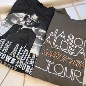 Two Jason Alden VIP concert shirts